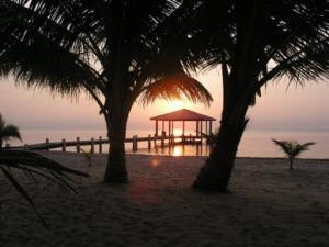 Dock with cabana